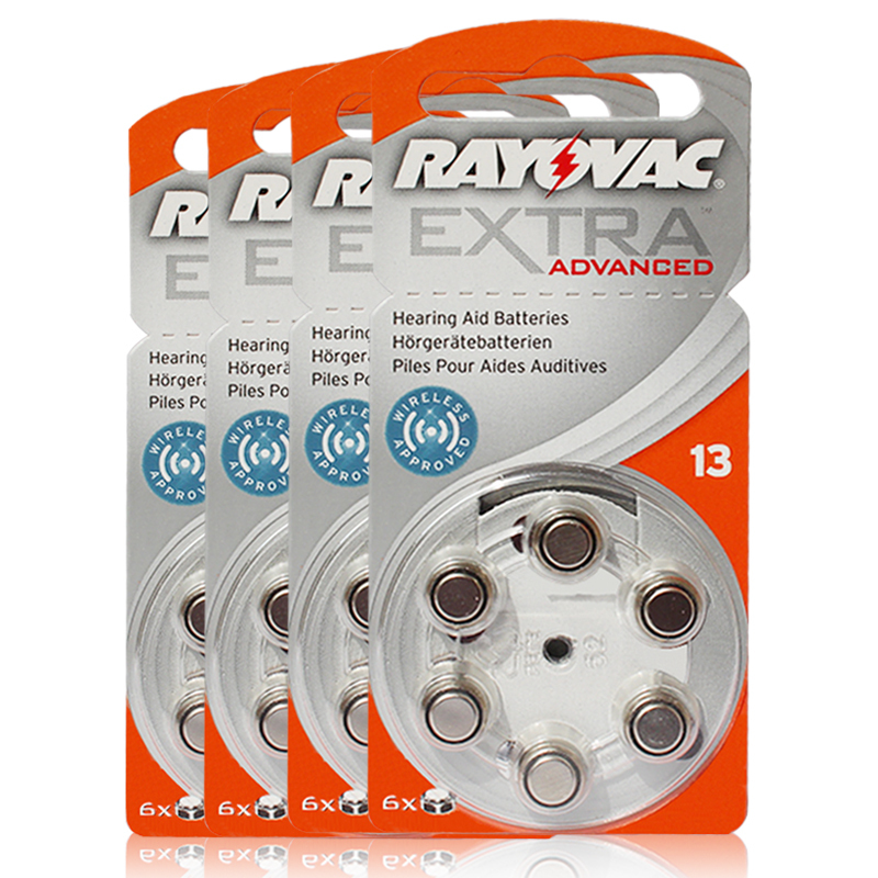 60 PCS/lot Rayovac Extra Performance Hearing Aid Batteries. Zinc Air 13/P13/PR48 Battery for BTE Hearing aids. Free Shipping!(China (Mainland))