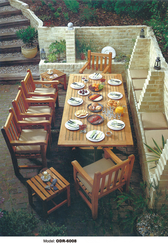Solid Wood Outdoor Furniture Garden Set In Garden Sets