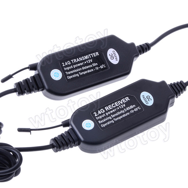Universal 2.4G Wireless Transmitter With Receiver for Car Rearview Camera (AV IN)