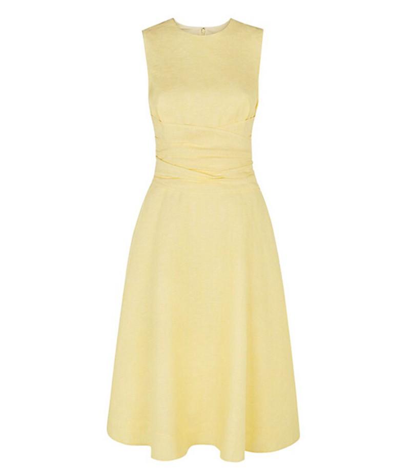 Simple elegant light yellow bridesmaid dresses 2015 high for Simple cream colored wedding dresses