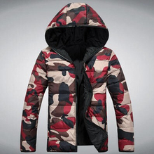 Big Size Lovers' Clothes Men Winter Jacket Men Active Parka Male Hooded Collar Camouflage Outdoor Coat 3 Color Free Shipping