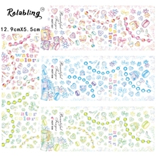 Rolabling HOT 37 -39 New Arrival 3 Pcs Gril's Favorite Stickers Full Cover Dressing Case & Necklace Nail Art Decals Hot(China (Mainland))