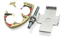 1 unidades de oro color de la alta calidad del coche de Metal capucha delantero trasero Badge etiqueta emblema Grille para Porsche(China (Mainland))