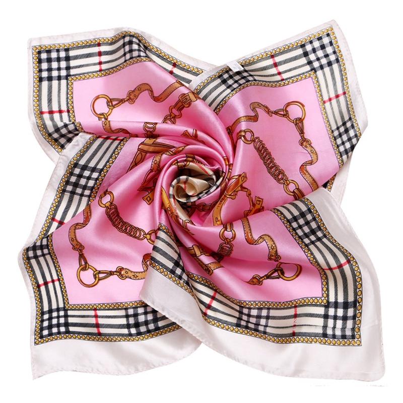 LING/British Style Plain Female Seda Twilly Head Scarf,Casual Printed Ladies Silk Scarf, Foulard fashion satin bandanas 88046(China (Mainland))