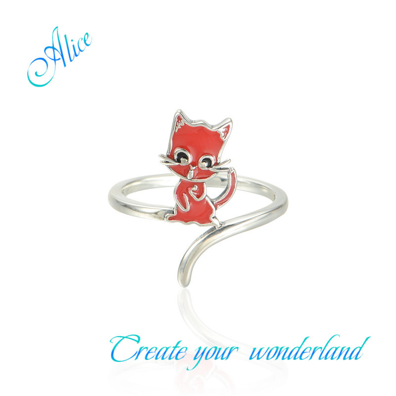 Latest Fashion Infinity Silver Ring Fox Rings Sterling Silver Enamel Jewels Of Silver 925 Alice Ripy003(China (Mainland))