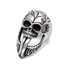 Series of explosion of Punk Skull Ring tongue tongue Halloween skull jewelry jewelry manufacturers SA897 316L stainless steel(China (Mainland))