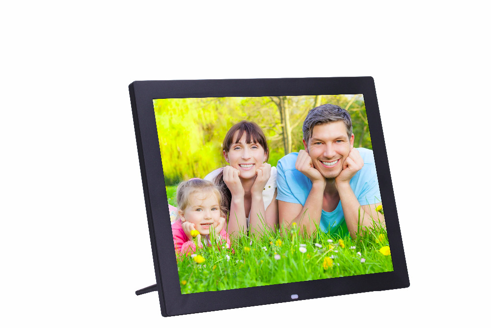 2016 New 15 inch 1024*768 LED screen high-definition 4:3 digital photo frame Picture/Music/Video free shipping(China (Mainland))