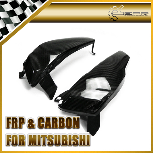 For Mitsubishi EVO 10 X Carbon Fiber Headlight Block out Panel Replacement (Pair)(China (Mainland))