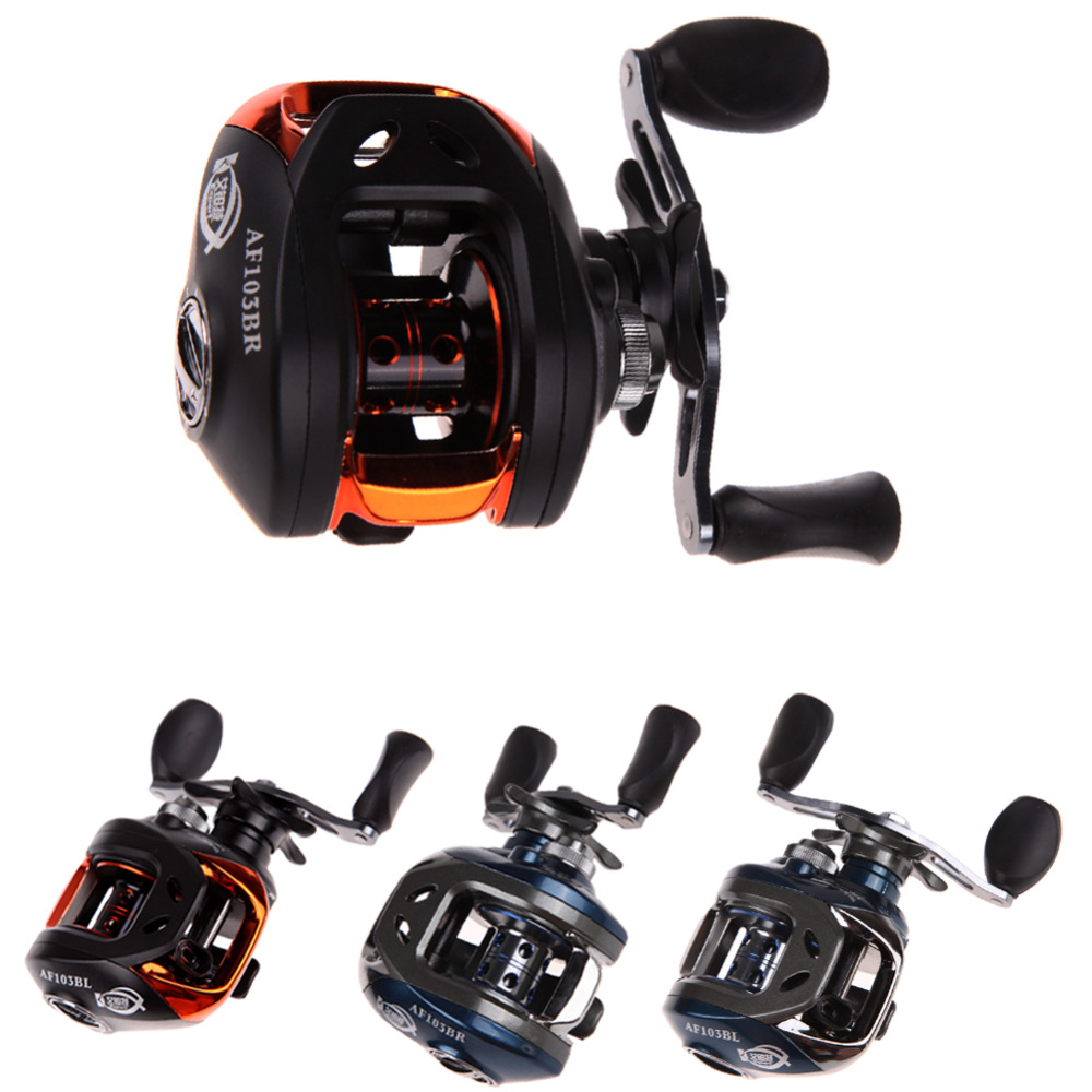 (Left and Right) PAF103 10+1BB Ball Bearings Hand Bait Casting Fishing Reel Blue and Black(China (Mainland))
