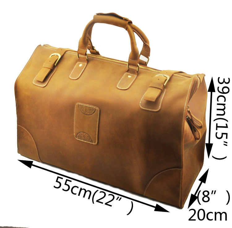 High Quality Mens Genuine Real cowhide Leather Large Duffle Travel Luggage Suitcase Tote Bags A8151(China (Mainland))