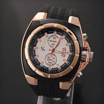 relogio masculino quartz watch V6 Men's Stainless Steel Watch Sports Army Casual Reloj Hombre Relogio Masculino  LRY05