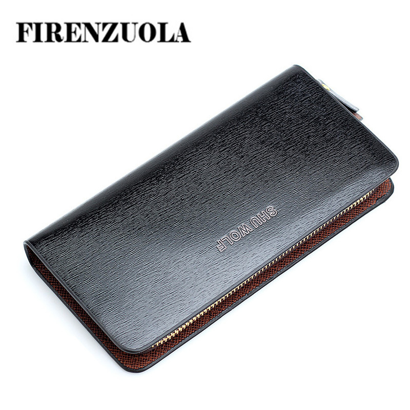 New 2015 Men Fashion Leather Long Wallet with Card Holder,Vintage Wallets ,Men's Casual Purse #671(China (Mainland))