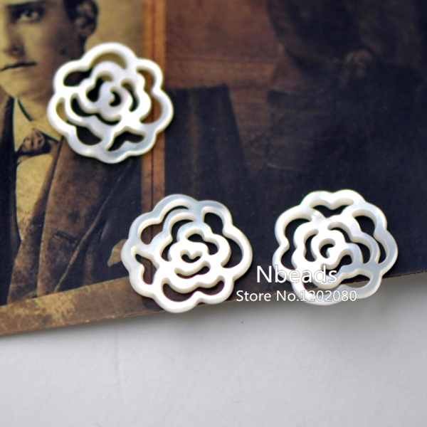 White MOP Shell Cloud Connectors, Mother of Pearls Hollow Charms, Jewelry Making Supplies, Free Shipping
