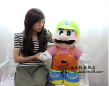 Movies & TV plush toy 100cm  Luigi Mario with green hat plush doll gift s9877