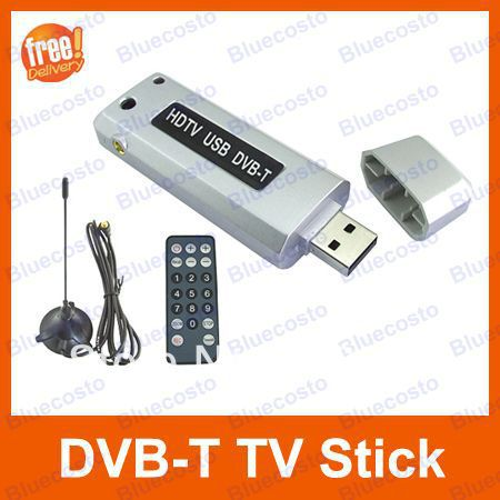 Portable Mini USB DVB-T TV Stick Tuner Receiver with Remote controller,Retail 1pcs (Not work in USA or Brazil )(China (Mainland))