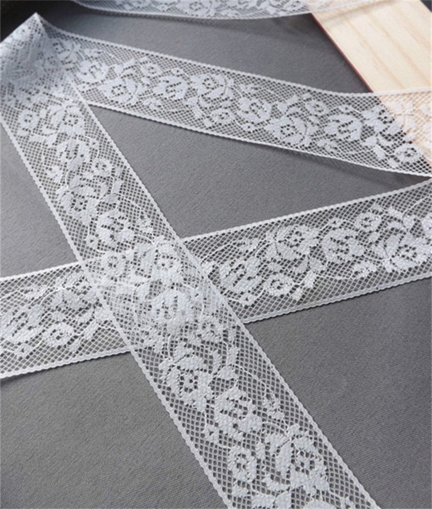 Width 30mm 10 yards white Embroidered Net Lace Trim Garment ribbon headband wedding party decoration DIY