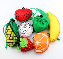MIC 7Styles Cute Useful Fruit Watermelon Pitaya Foldable Eco Reusable Shopping Bags 39cm x37cm GB015(China (Mainland))