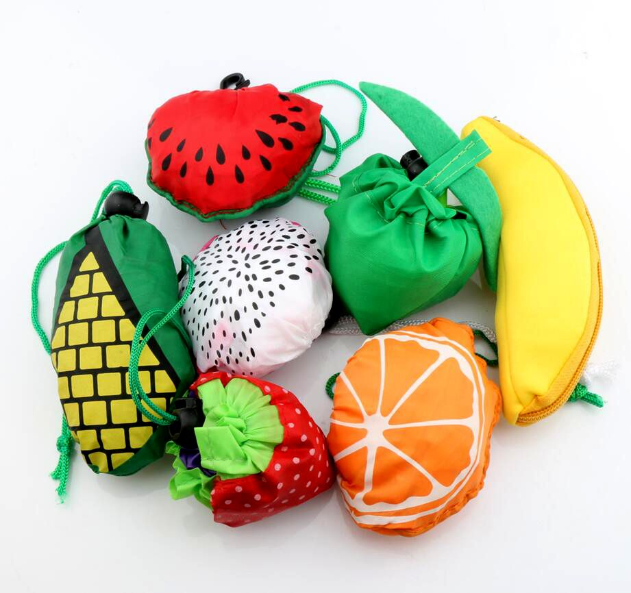 MIC 7Styles Cute Useful Fruit Watermelon Pitaya Foldable Eco Reusable Shopping Bags 39cm x37cm GB015(China (Mainland))