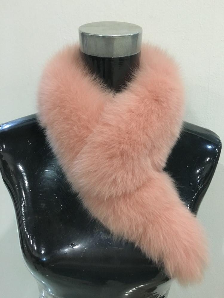 Winter real fox Fur Collar scarf Brand New 2017 Fashion Women Fox Fur neck warmer long Female Warm stole fur clips  White Black