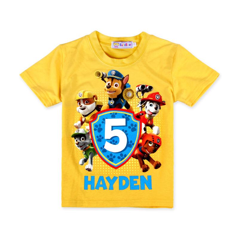 Baby Girls T-shirt 2016 Summer Fashion Cartoon Patrol Dogs Clothes Girls T Shirt Children Clothing Dogs PATROL Kid Girls Clothes(China (Mainland))