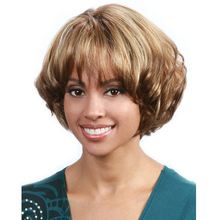 Hot Sales!Short Curly Blonde Wigs Cheap Synthetic Highlight Hair Wigs African American Wig For Black Women Cosplay Lolita Wigs