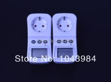 2 unids/lote EU Plug eléctrica de ahorro de energía eléctrica consumo analizador del Monitor con Factor de potencia Display LCD