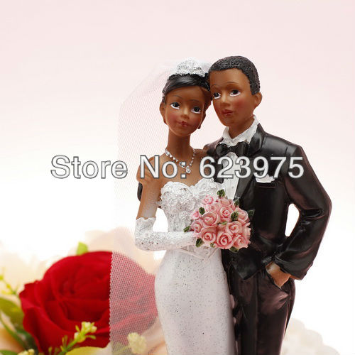 Unique Wedding Cake Topper American African Wedding Couple In Cake Decorating