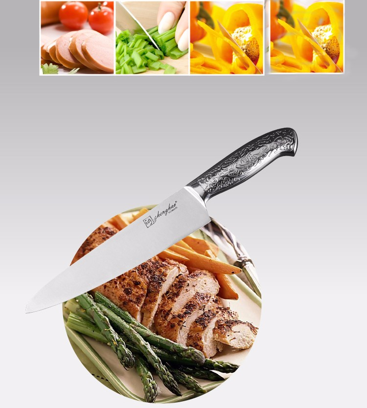 Buy 2017 LD new top grade kitchen knives 8 inch stainless steel chef knife kitchen knife cleaver meat sharp knife Free shipping cheap