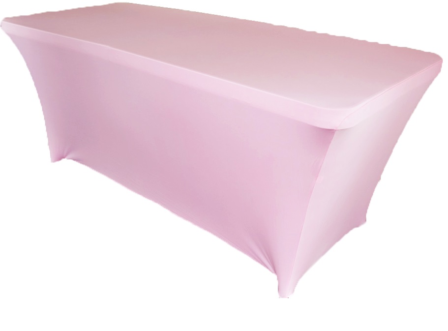 10pcs rectangular spandex table cover 6 ft pink in table for 10 ft table cloth