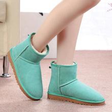 TIIDA Marca Venta Caliente Del Envío Libre de Las Mujeres Botas 100% Botines de Cuero Genuino del Zurriago de Nieve Botas Cálidas Botas de Invierno Zapatos de Mujer(China (Mainland))