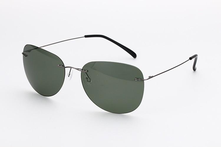 2016 eyeglass brand designer rimless titanium sunglasses ...