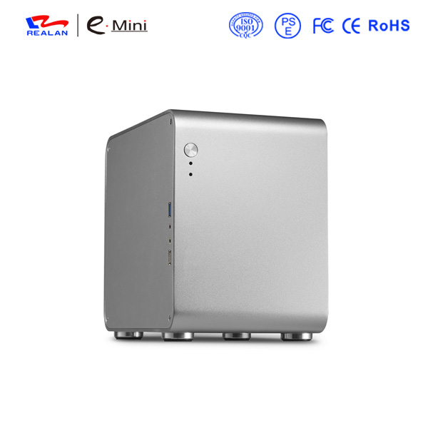 Realan W150 Black Mini ITX Aluminum Chassis Server Rack Case Computer WIFI USB2.0 USB3.0(China (Mainland))