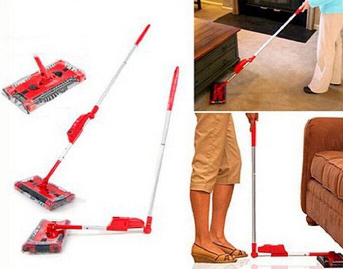 New Cordless Sweeper Electric Floor Sweeper Electric Broom Mop Rod 360 Degree Carpet Floor Vacuum Cleaner for home Dust Cleaner(China (Mainland))