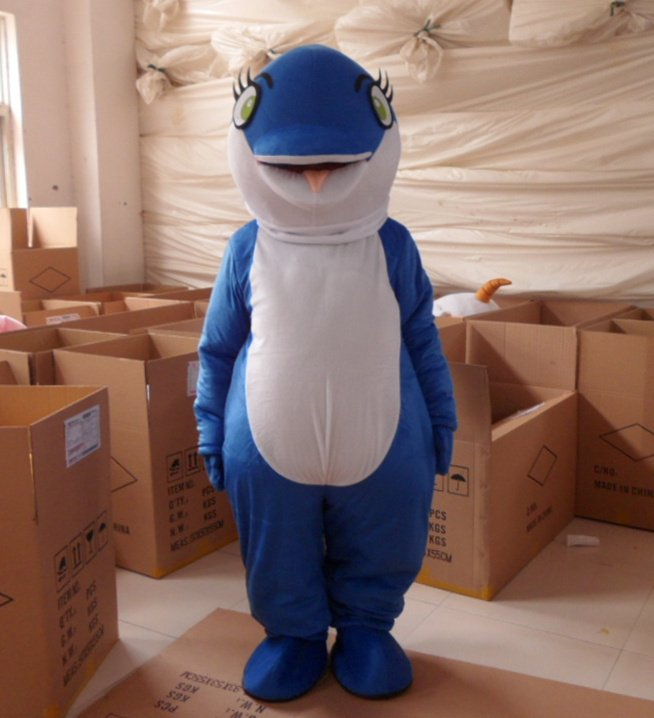 Wholesale FREE SHIPPING blue dolphins  Plush Cartoon Character Costume mascot cosplay Custom Products customized<br><br>Aliexpress