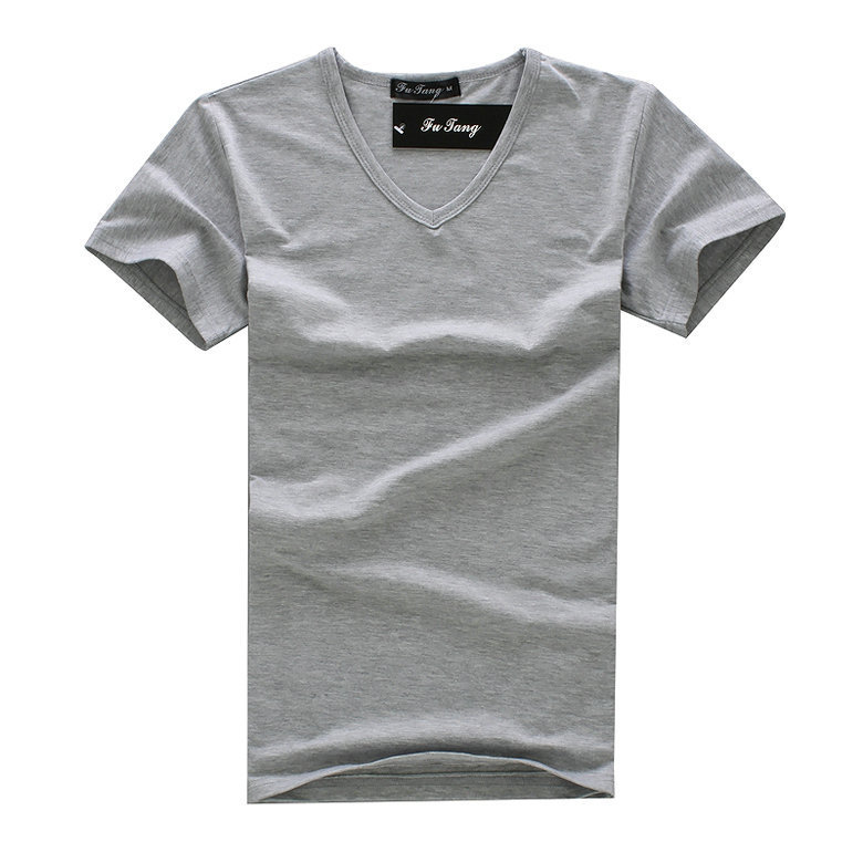 Big sale 2015 new summer sport casual men tshirt solid for Plain colored v neck t shirts
