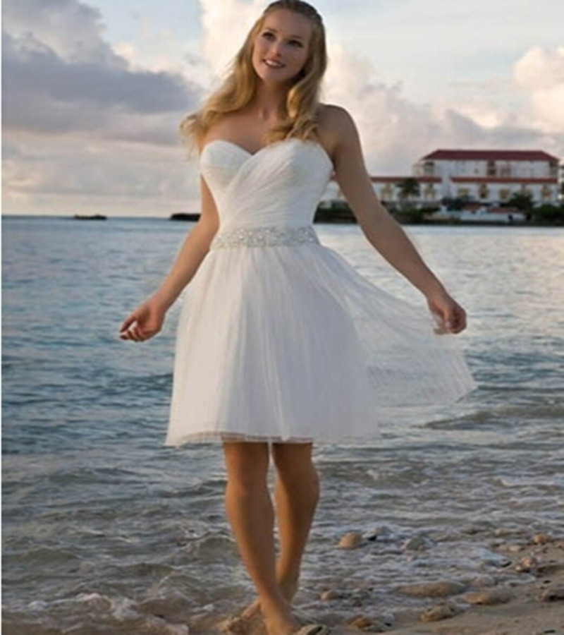 Short beach wedding dresses 2015 summer wedding gowns for Summer dresses for wedding