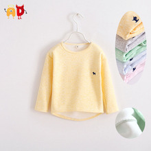 AD Thermal Fleece Baby Boys Girls Sweatshirt Embroidered Patter Thickening Boys Basic Tops Winter Autumn Children Clothes(China (Mainland))