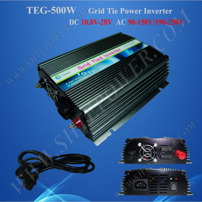 Output short circuit protection grid tie 10.8-30v 500w inverter solar(China (Mainland))