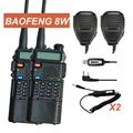 Walkie Talkie Pair Baofeng UV 8HX VHF UHF Radio 50KM Sister Baofeng UV 5R 8W GT