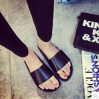 2015 Summer Womens Slippers Casual Slides Black Women Sandals Flat Sandals Flip Flops Open Toe Beach Shoes Sapatos Feminino<br><br>Aliexpress
