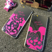 SE 6s New Mirror Style Cute Sweet Mickey Minnie Mouse Soft TPU Case iPhone 6 6S / 6Plus 5S 5G Phone cover - Lifone Store store