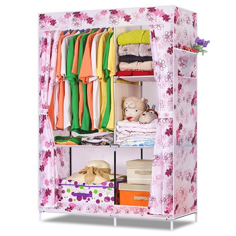 Гаджет  Free Shipping Storage Cabinet Portable Wardrob Combination Wardrob Fabric Large Capacity Bedroom Furniture DIY Clothes Wardrobe None Мебель