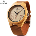 REDEAR Wooden Watch Men Watches Top Brand Luxury Men s Natural Bamboo Wood Watches Waterproof Clock