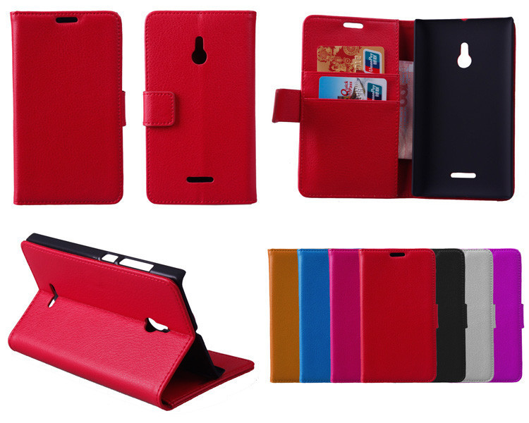 For Nokia XL Case, Luxury Wallet Leather Case for Nokia XL With Credit Card Holder 2014 New Mobile Phone Cases + Touch Stylus(China (Mainland))