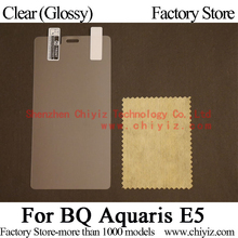 Clear Glossy LCD Screen Protector Guard Cover protective Film Shield For BQ Aquaris E5 4G