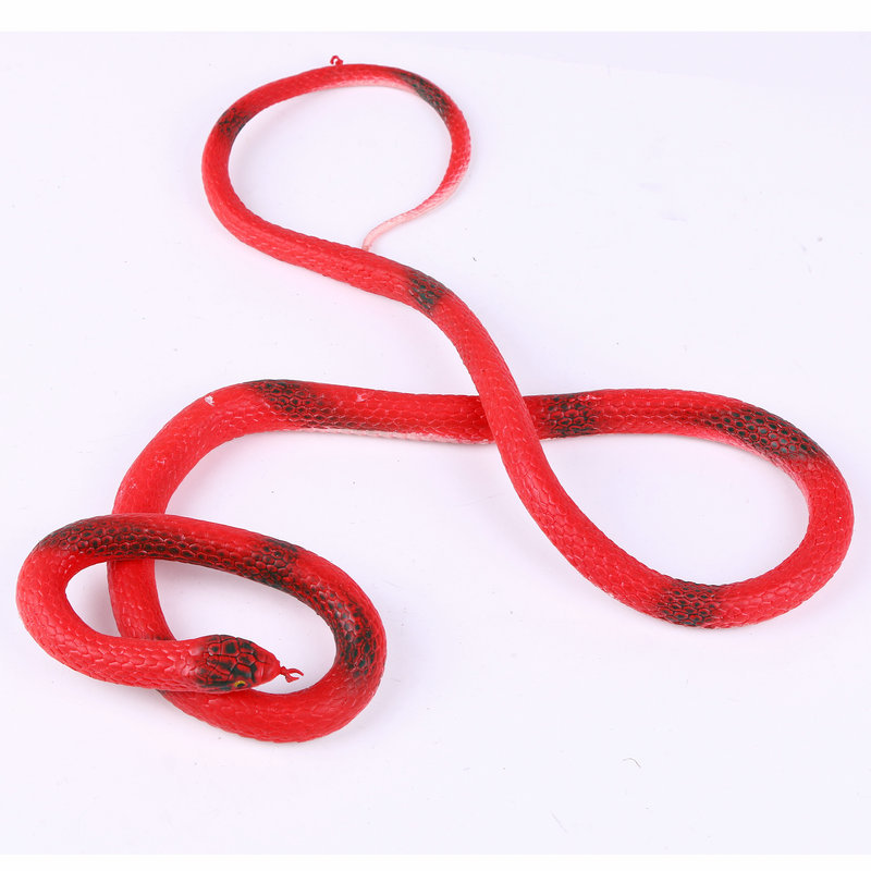 1PCS 110cm Funky Shock toys Simulation of the snakes The Realistic Rubber Toys Fake Snake random color(China (Mainland))