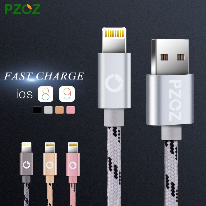 PZOZ Lighting Cable Fast Charger Adapter Original USB Cable For iphone 6 s plus i6 i5 iphone 5 5s ipad air 2 Mobile Phone Cables(China (Mainland))