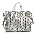 High Capacity Foldable Bao Bao Ladies Plaid Tote Woman Handbag Fashion Shoulder Bag Geometric Sequins Bags