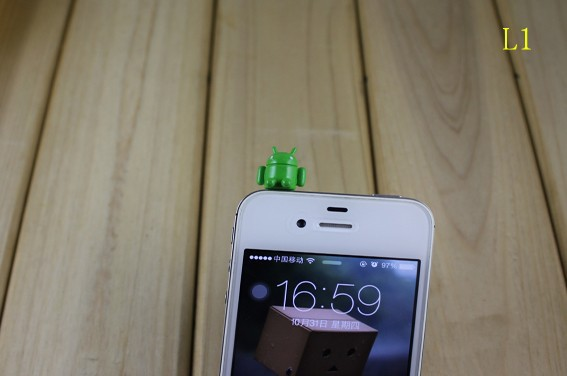 cartoon lovely DP-L1 3.5mm universal dust Plug Earphone Jack Headset Stopper Cap iphone 5S/Samsung/htc - r's store
