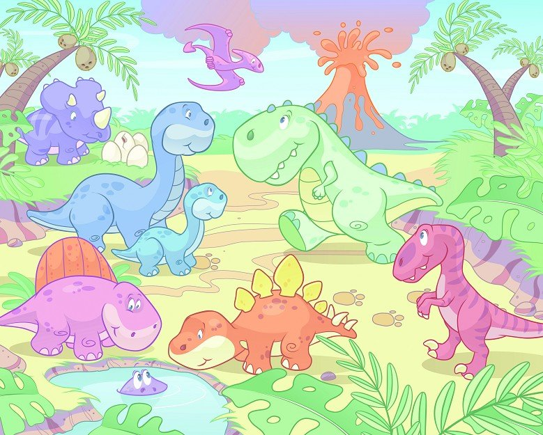 New uk children 39 s wallpaper mural walltastic dino for Dinosaur wall mural uk